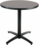 30'' Round Laminate Pedestal Table with Graphite Nebula Top - Black Arch Base [T30RD-B2115-GPN-IFK]
