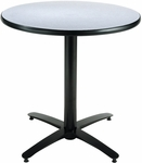 30'' Round Hospitality Grey Nebula Table with Black Arch Base [T30RD-B2115-GN-IFK]