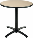 30'' Round Hospitality Natural Table with Black Arch Base [T30RD-B2115-NA-IFK]