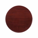 30'' Round Mahogany Resin Table Top