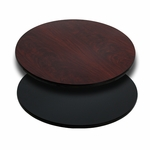 30'' Round Table Top with Reversible Black or Mahogany Laminate Top [BFDH-30BKMAHRD-TDR]