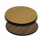 30'' Round Table Top with Reversible Natural or Walnut Laminate Top [BFDH-30NATWALRD-TDR]