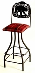 Wildlife Silhouette 30'' Wrought Iron Swivel Barstool with Upholstered Seat and Contempo Base [GMC-SW230-SML-FS-GCM]