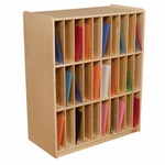 30-Slot Mail/Portfolio Center with Removable Plywood Dividers - Assembled - 30''W x 15''D x 36.75''H [33330-WDD]