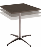 Square Adjustable Height Alulite Cocktail Table with Powder Coat Top [A30S3042KD-SAL]