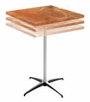 Square Adjustable Height Cocktail Table with Swirl Top [SA30SP3042KD-SAL]