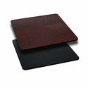30'' Square Table Top with Reversible Black or Mahogany Laminate Top