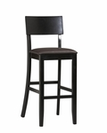 Torino Collection 30''H Contemporary Bar Stool [01855BLK-01-KD-U-FS-LIN]