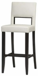 Vega 30''H Bar Stool - White [14054WHT-01-KD-U-FS-LIN]