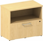 300 Series 30'' W Lower 1 Drawer Lateral File - Natural Maple [300SFL130AC-FS-BBF]