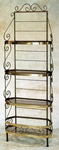 French Traditional 30''W x 82''H Wrought Iron Oval Bow Baker's Rack [GMC-30BFA-FS-GCM]