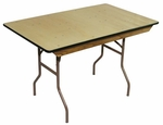 6' Caterer Elite Series Table with Non Marring Floor Glides - 30''W x 72''L x 30''H [203501-MES]
