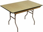 6' Rental Elite Series Folding Table with Non Marring Floor Glides - 30''W x 72''L x 30''H [203001-MES]