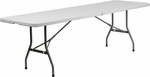 30''W x 96''L Bi-Fold Granite White Plastic Folding Table [RB-3096FH-GG]