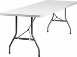 30''W x 96''L Granite White Plastic Folding Table [RB-3096-GG]