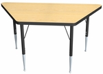 High Pressure Laminate Trapezoid Shaped Activity Table - 30-60''W x 30''D x 23.25-32.25''H [QSACT7211-NSL]