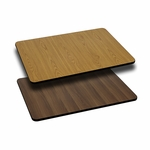 30'' x 42'' Rectangular Table Top with Reversible Natural or Walnut Laminate Top [BFDH-3042NATWALREC-TDR]
