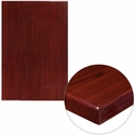 30'' x 45'' High-Gloss Mahogany Resin Table Top with 2'' Thick Edge