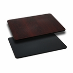 30'' x 45'' Rectangular Table Top with Reversible Black or Mahogany Laminate Top [BFDH-3045BKMAHREC-TDR]