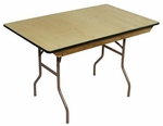 4' Reliant Standard Series Banquet Table with Non Marring Floor Glides - 30''W x 48''L x 30''H [216000-MES]