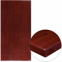 30'' x 60'' High-Gloss Mahogany Resin Table Top with 2'' Thick Edge