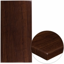 30'' x 60'' High-Gloss Walnut Resin Table Top with 2'' Thick Edge