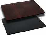 30'' x 60'' Rectangular Table Top with Reversible Black or Mahogany Laminate Top [BFDH-3060BKMAHREC-TDR]