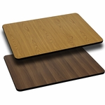 30'' x 60'' Rectangular Table Top with Reversible Natural or Walnut Laminate Top [BFDH-3060NATWALREC-TDR]