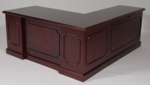 30 x 66 Wood Veneer Desk With Right Return in Mahogany Finish [9WS-4MH-FS-FDG]
