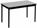 High Pressure Laminate Rectangular Lab Table with Black Base and T-Mold - Gray Granite Top - 30''D x 72''W [LT3072-15-CRL]
