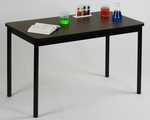 High Pressure Laminate Lab Table with Walnut Top - 30''D X 72''W [LT3072-01-CRL]