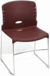300 lb. Capacity Plastic Seat and Back Stack Chair - Burgundy [320-P17-MFO]