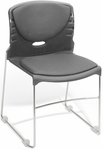 300 lb. Capacity Stack Chair with Fabric Seat and Back - Gray [320-F-801-MFO]