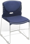 300 lb. Capacity Stack Chair with Fabric Seat and Back - Navy [320-F-804-MFO]