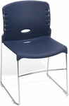 300 lb. Capacity Plastic Seat and Back Stack Chair - Navy [320-P46-MFO]