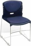 300 lb. Capacity Stack Chair with Anti-Microbial and Anti-Bacterial Vinyl Seat and Back - Navy [320-VAM-605-MFO]