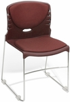 300 lb. Capacity Stack Chair with Fabric Seat and Back - Wine [320-F-803-MFO]