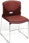 300 lb. Capacity Stack Chair with Anti-Microbial and Anti-Bacterial Vinyl Seat and Back - Wine [320-VAM-603-MFO]