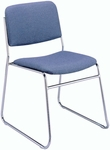 300 Series Stacking Steel Frame Armless Guest Chair with Sled Base and 1.5'' Upholstered Seat [310-IFK]
