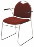 300 Series Stacking Steel Frame Rounded Back Guest Armchair with Sled Base and 1.5'' Upholstered Seat [RB311-IFK]