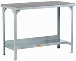 Welded Steel Workbench With Hardboard Over Steel Top - 24''D x 48''W [WSH2-2448-36-LGC]