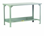 3000 lb Capacity Welded Steel Workbench With Lower Shelf [WST2-2448-36-LGC]