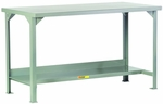 Welded Steel Workbench With Lower Shelf - 24''W x 48''D [WST2-2448-36-LGC]