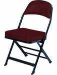 3000 Series Fabric Upholstered Seat and Back Folding Chair with B Back Style [3400B-FABRIC-CS]