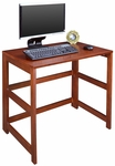 Flip Flop 28''H Rectangular Folding Wooden Desk - Cherry [HDSKF3121CH-FS-REG]