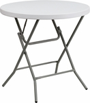 32'' Round Granite White Plastic Folding Table [DAD-YCZ-80R-GW-GG]
