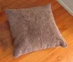 32'' Square Single Sided Curly Shorn Floor Cushion [MCOSWCS80UMS-FS-BRON]