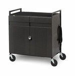 32-Unit Device Cart with Electrical [NETBOOK32-BRET]