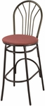 3200 Series Hospitality Decorative Back Barstool with Upholstered Seat [BR3251-IFK]