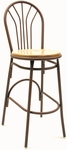 3200 Series Hospitality Decorative Back Barstool with Wood Seat [BR3251-WOOD-IFK]
